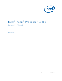 Intel® Xeon® Processor L3406 Datasheet Volume 2
