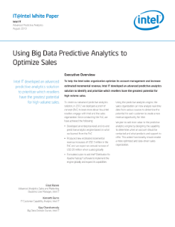 Using Big Data Predictive Analytics to Optimize Sales: Paper
