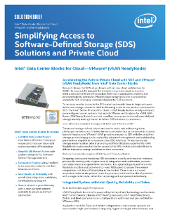 Increase Access to Private Cloud — SDS, VMware* vSAN ReadyNode