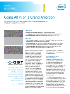 Going All In on a Grand Ambition