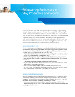 Empower Businesses to Stay Productive, Secure