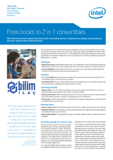 Bilim Pharmaceuticals From digital Brochures to 2 in 1 Convertible
