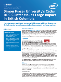 Simon Fraser University's Cedar HPC Cluster Makes a Large Impact in British Columbia