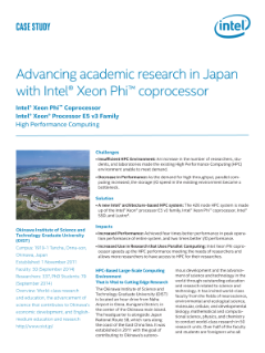 Advancing academic research in Japan with Intel® Xeon Phi™ coprocessor