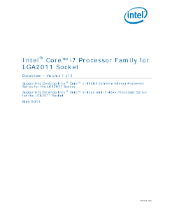Intel® Core™ i7 Processor for LGA2011 Socket: Datasheet, Vol. 1