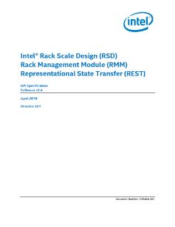Intel® Rack Scale Design (Intel® RSD) Documentation
