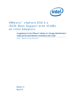 VMware vSphere ESX* 5 x iSCSI Boot with VLAN Support: Guide