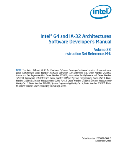 Intel® 64 and IA-32 Architectures Developer's Manual: Vol. 2B