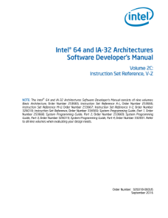 Intel® 64 and IA-32 Architectures Software Developer's Manual Volume 2C: Instruction Set Reference