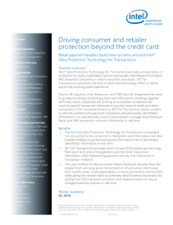 Retail Payment Systems Use Intel® Data Protection Technology