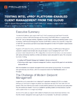Intel® Endpoint Management Assistant (Intel® EMA) Delivers on Its Promise