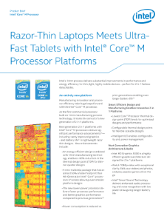 Product Brief  Intel® Core™ M Processor