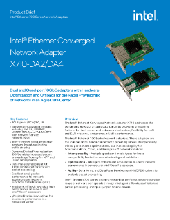 Intel Converged NIC X710-4 Cisco Ethernet Drivers for PC