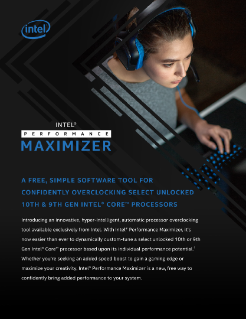 Intel® Performance Maximizer