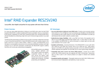 Intel® RAID Expander RES2SV240 Product Brief