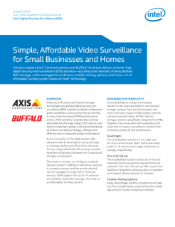 Video Surveillance for Small Businesses and Homes: Solution Brief