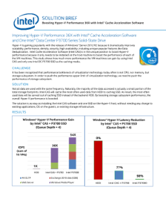 Improve Hyper-V Performance with Intel® CAS