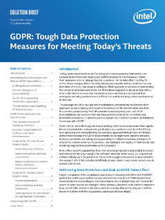 GDPR: Tough Data Protection Measures for Meeting Today's Threats