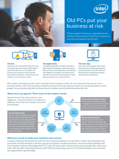 Protect Your Business with Intel® Security Technologies