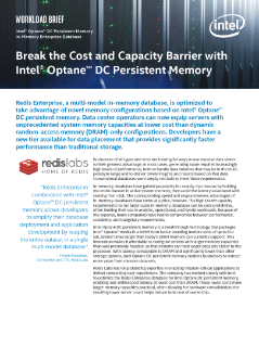 Break the Cost and Capacity Barrier with Intel® Optane™ DC Persistent Memory