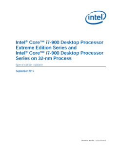 Intel® Core™ i7-900 Processor Extreme Edition, 32-nm Process