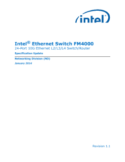 Intel® Ethernet Switch FM4000 Spec Update