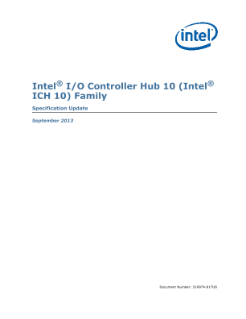 Intel® I/O Controller Hub 10 (ICH10) Family Specification Update,Intel® I/O Controller Hub 10 (Intel® ICH10) Family Specification Update
