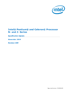 Intel® Pentium® and Celeron® Processor N and J Series Spec Update