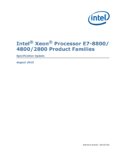 Intel® Xeon® Processor E7-8800/4800/2800 Specification Update