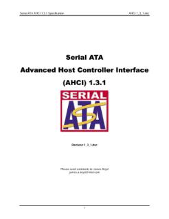 Serial ATA AHCI: Specification, Rev  1 3 1