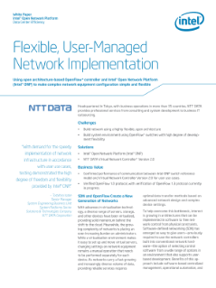 Flexible, User-Managed Network Implementation