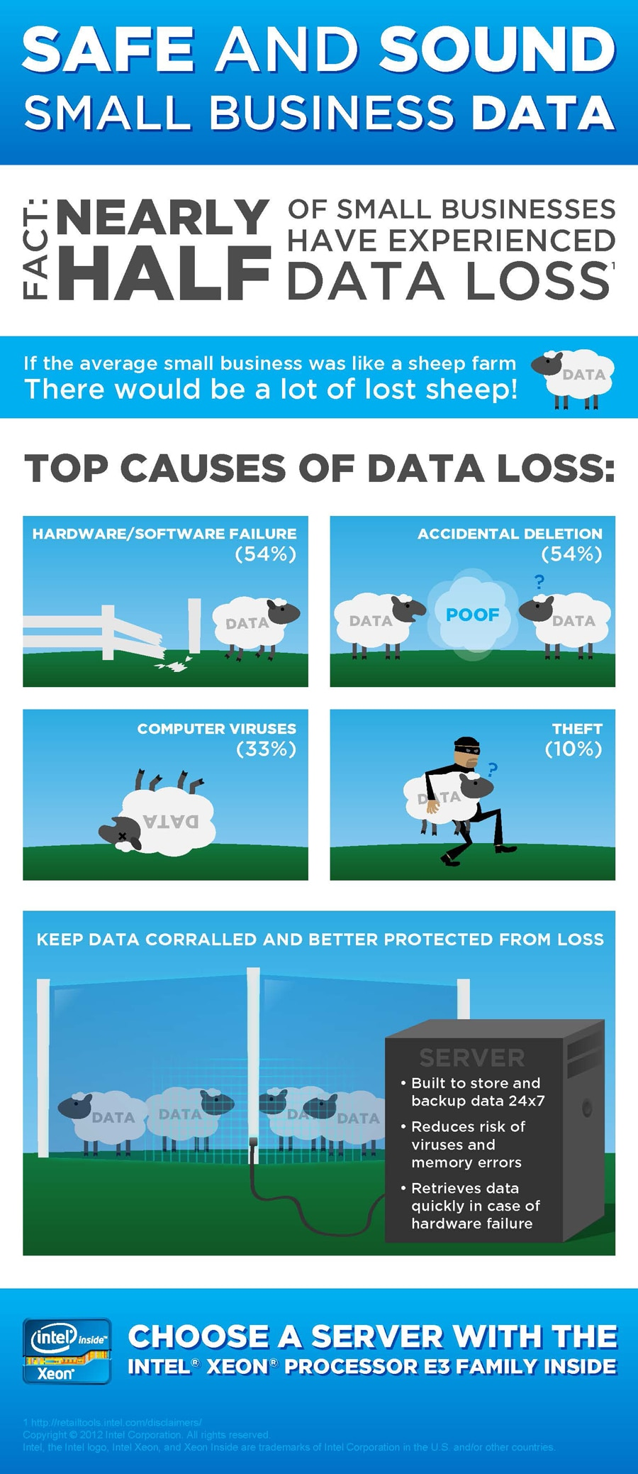 Safe and Sound Small Business Data Infographic